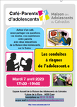 "Mardi 7 avril 2020 à Caen : Café parents d'adolescents ""Les conduites à (...) 