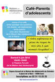 Samedi 6 juin 2015 à  Caen : Café-Parents d'adolescents de la Maison des Adolescents