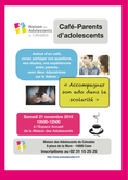Samedi 21 novembre 2015 à Caen : Café Parents d'adolescents