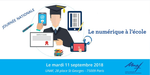 Mardi 11 septembre 2018 à Paris: journée nationale « Le numérique à l'Ecole (...) |inserer_attribut{title